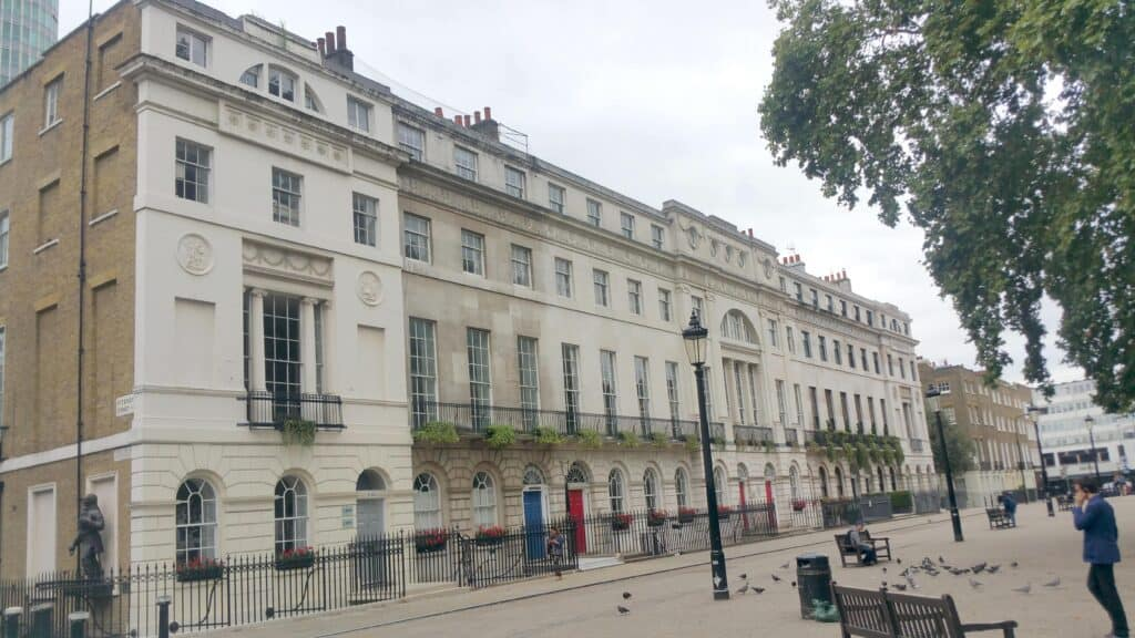 Photo of south side of Fitzroy Square