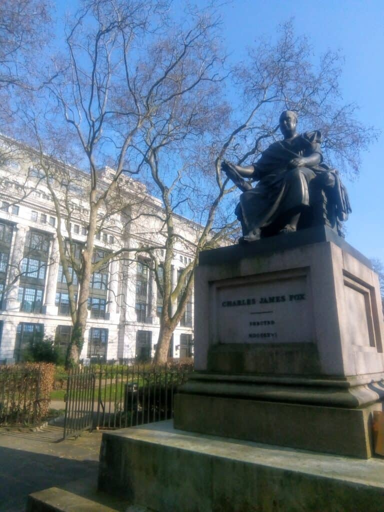 Photo of statue of Charles James Fox