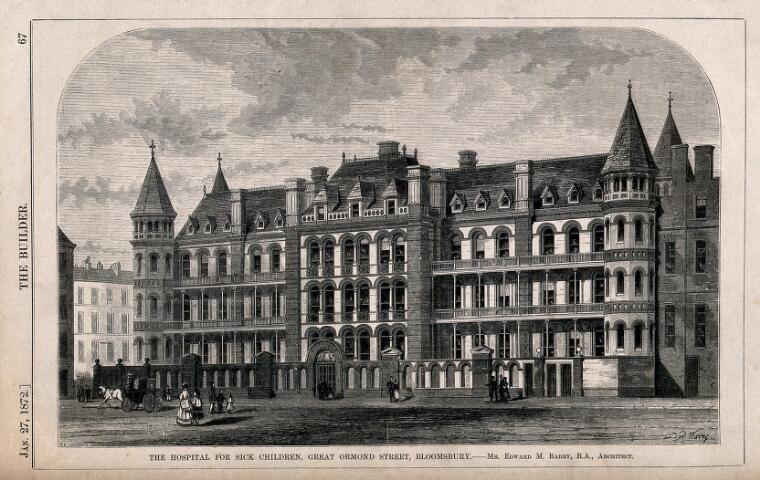 Engraving of the Hospital for Sick Children