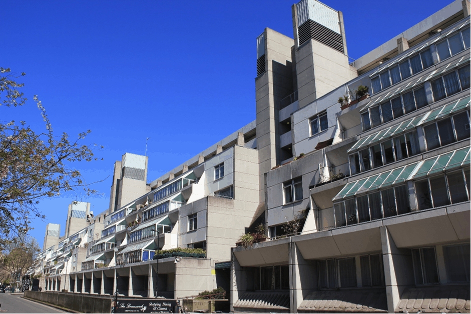 Photo of The Brunswick Centre from Marchmont Street